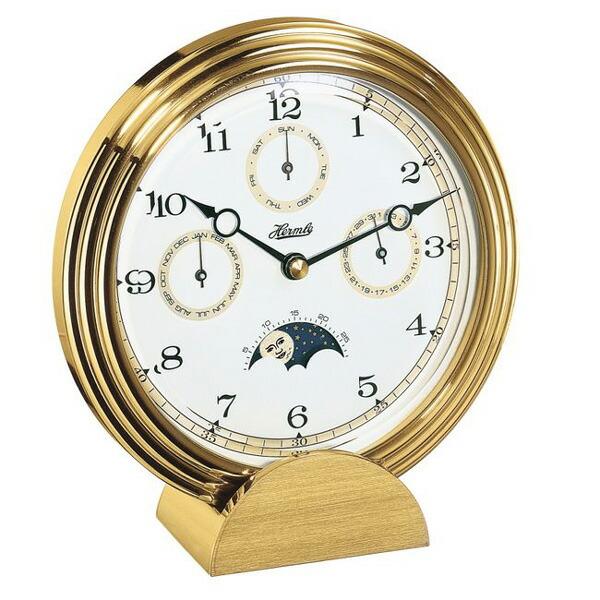 【正規輸入品】ドイツ ヘルムレ HERMLE 22641-002100 クオーツ置時計 ゴールド [送料区分(大)]
