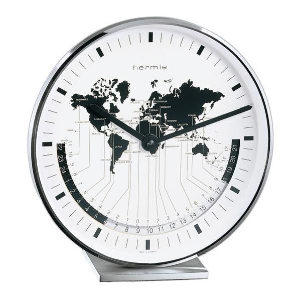 【正規輸入品】ドイツ ヘルムレ HERMLE 22843-002100 クオーツ置時計 シルバー [送料区分(大)]