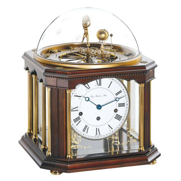【正規輸入品】ドイツ ヘルムレ HERMLE 22948-Q10352 機械式置時計 テルリウム アンティークウォルナット [送料区分(大)]