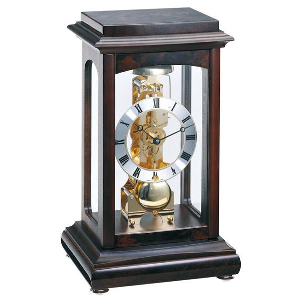 【正規輸入品】ドイツ ヘルムレ HERMLE 22957-Q30791 機械式置時計 ウォルナットチョコ [送料区分(大)]