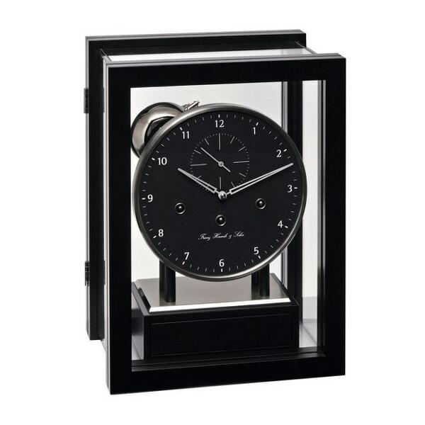 【正規輸入品】ドイツ ヘルムレ HERMLE 22994-740352 機械式置時計 ブラック [送料区分(大)]