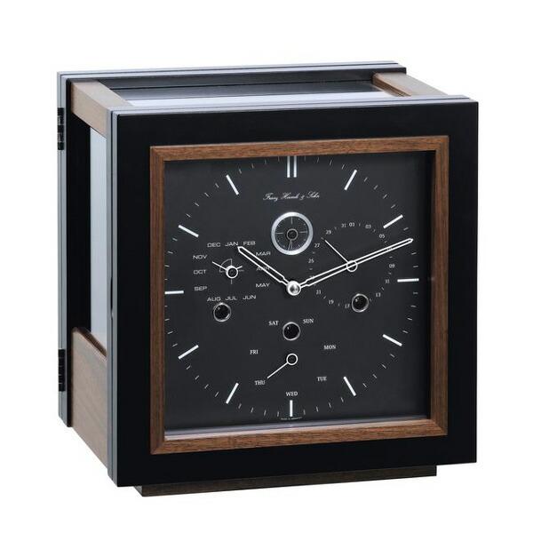 【正規輸入品】ドイツ ヘルムレ HERMLE 22999-030352 機械式置時計 ウォルナット ブラック [送料区分(大)]