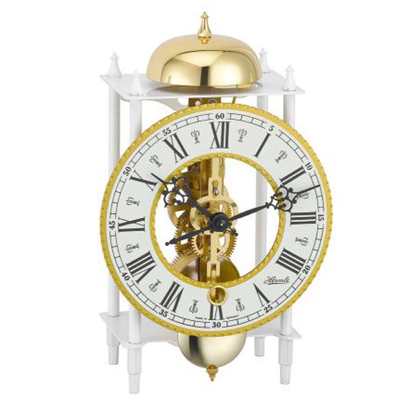 【正規輸入品】ドイツ ヘルムレ HERMLE 23005-000711 機械式置時計 ホワイト [送料区分(大)]