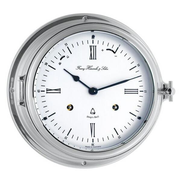 【正規輸入品】ドイツ ヘルムレ HERMLE 35066-000132 機械式 船舶時計 防水 シルバー [送料区分(大)]
