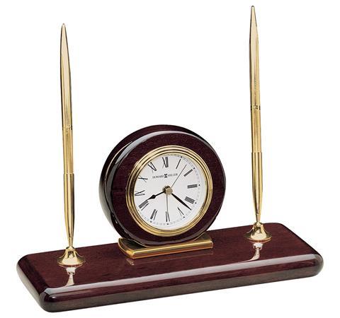 【正規輸入品】 アメリカ ハワードミラー 613-588 HOWARD MILLER ROSEWOOD DESK SET クオーツ置き時計
