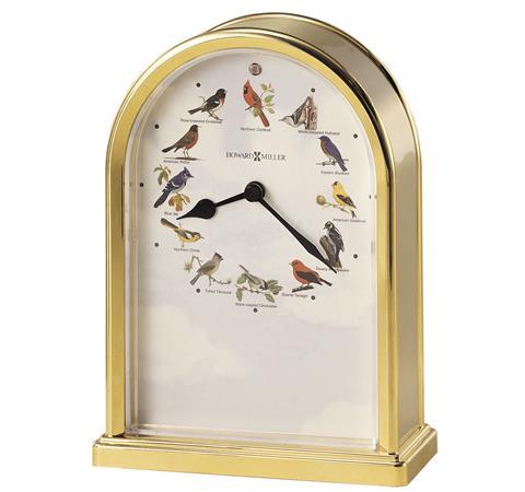 【正規輸入品】 アメリカ ハワードミラー 645-405 HOWARD MILLER SONGBIRDS OF NORTH AMERICA III クオーツ置き時計 [送料区分(大)]