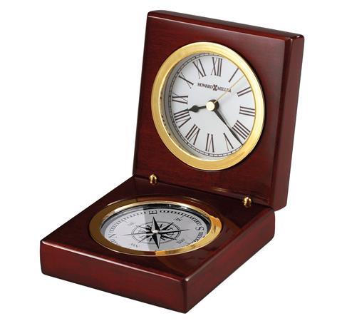 【正規輸入品】 アメリカ ハワードミラー 645-730 HOWARD MILLER PURSUIT コンパス付き クオーツ置き時計