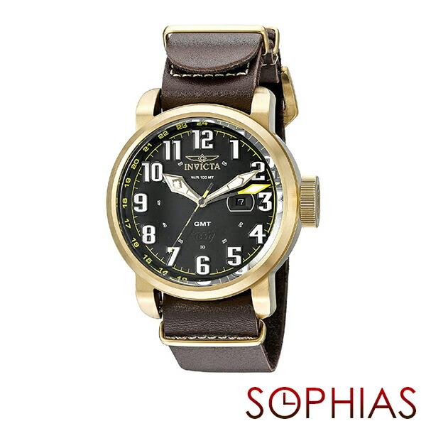 INVICTA インビクタ メンズ腕時計 18888 AVIATOR アビエーター ブラック×ゴールド 【長期保証3年付】