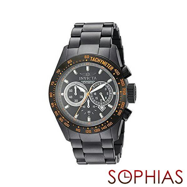 INVICTA インビクタ メンズ腕時計 19295 SPEED WAY スピードウェイ クロノグラフ ブラック×オレンジ 【長期保証3年付】