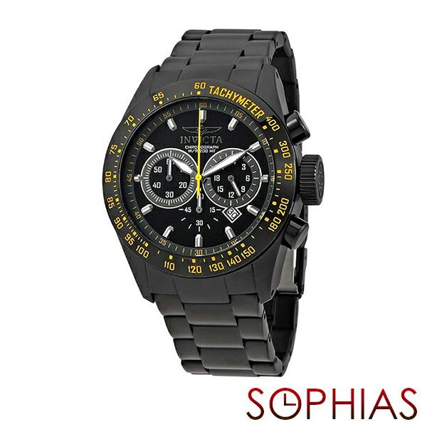 INVICTA インビクタ メンズ腕時計 19297 SPEED WAY スピードウェイ クロノグラフ ブラック×イエロー 【長期保証3年付】