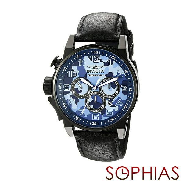 INVICTA インビクタ メンズ腕時計 20541 FORCE フォース カモフラージュ ミリタリー クロノグラフ ブルー 【長期保証3年付】