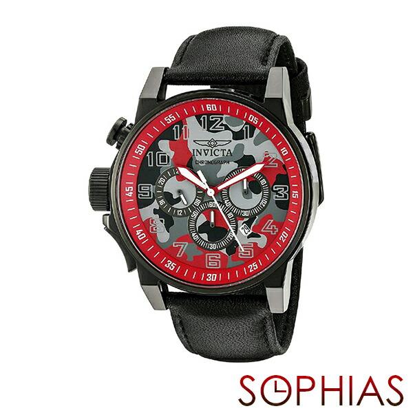 INVICTA インビクタ メンズ腕時計 20543 FORCE フォース カモフラージュ ミリタリー クロノグラフ グレー×レッド 【長期保証3年付】