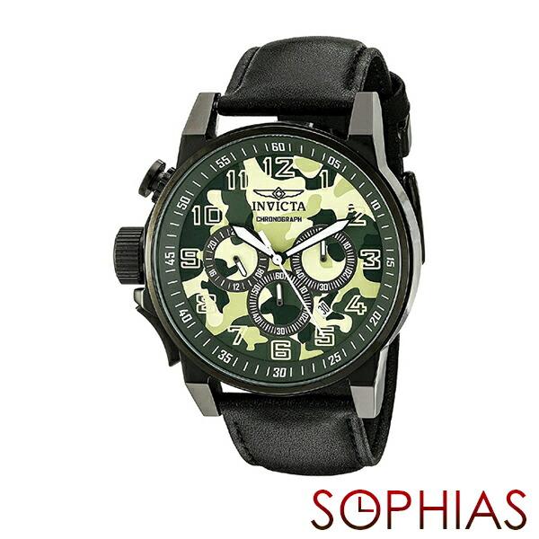 INVICTA インビクタ メンズ腕時計 20544 FORCE フォース カモフラージュ ミリタリー クロノグラフ グリーン 【長期保証3年付】