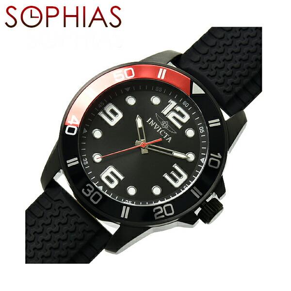 INVICTA インビクタ メンズ腕時計 21852 PRO DIVER プロダイバー ブラック×レッド 【長期保証3年付】