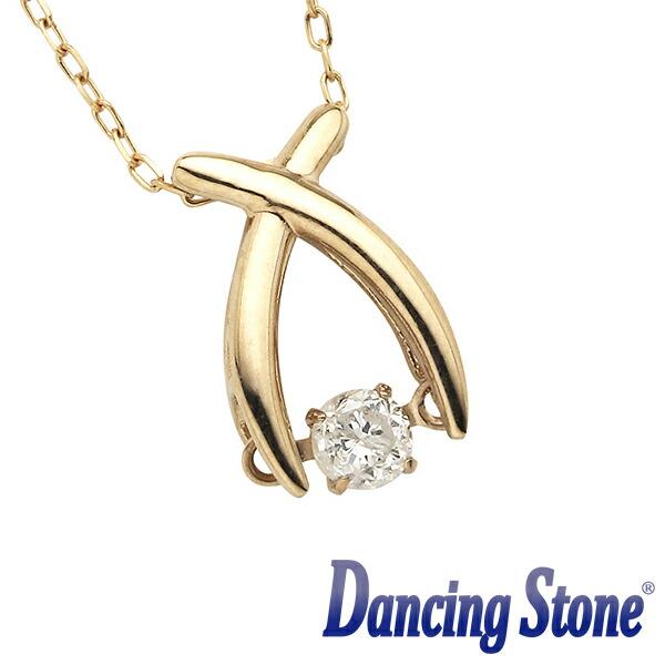 揺れるダイヤ ダイヤモンド ネックレス ダンシングストーン 0.08カラット 一粒 ピンクゴールド 1粒 K18 0.08ct スウィングネックレス リボン ds-29-586191