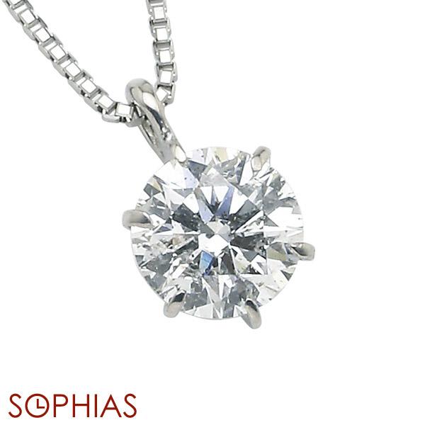 プラチナ ダイヤモンド ネックレス 1点留 Dカラー エクセレント 0.2カラット Excellent 0.2ct 鑑定書付き 92-907513