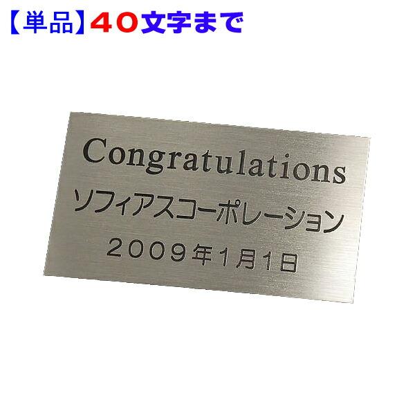 【単品】銘板/ネームプレート 40文字まで サイズ 80×45mm No.14 PT-40 【記念品・贈答品 名入れ】