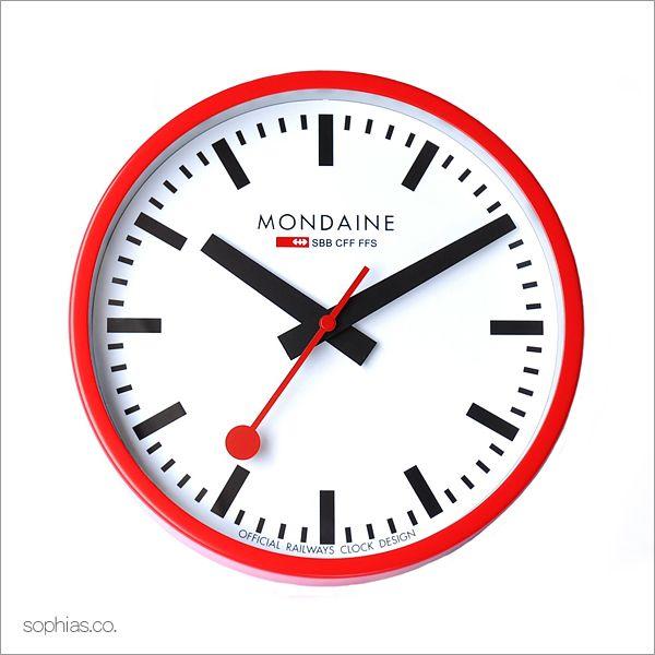 モンディーン MONDAINE A990.CLOCK.11SBC MD188 ウォールクロック レッド 壁掛け時計[送料区分(中)]