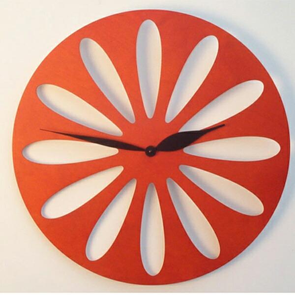 【正規輸入品】 イタリア ピロンディーニ ART008-ORANGE Pirondini 木製掛け時計 Traffic 8 オレンジ