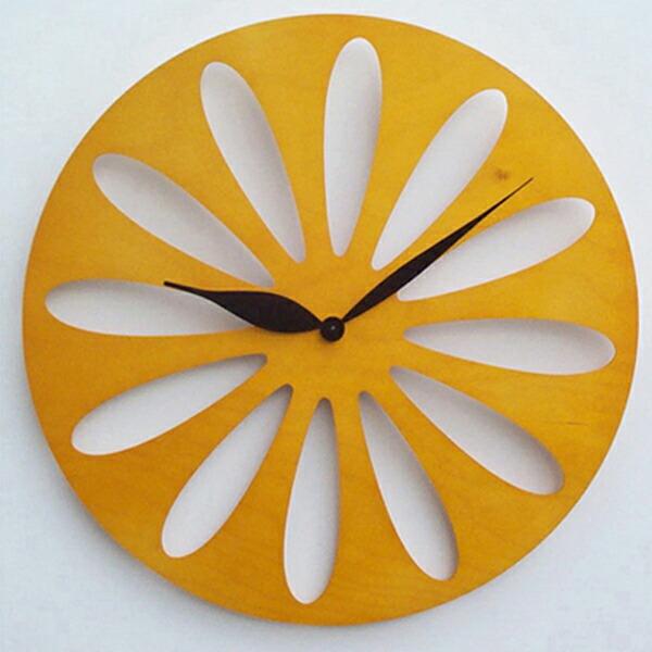 【正規輸入品】 イタリア ピロンディーニ ART008-YELLOW Pirondini 木製掛け時計 Traffic 8 イエロー