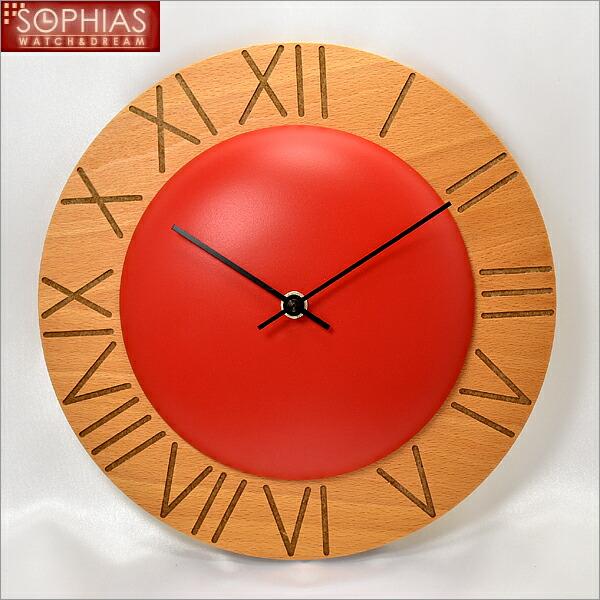【正規輸入品】 イタリア ピロンディーニ ART015-RED Pirondini 木製掛け時計 Ettore 15 レッド [送料区分(大)]