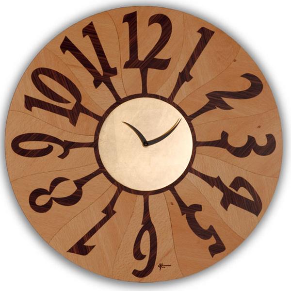 【正規輸入品】 イタリア ピロンディーニ ART060B Pirondini 木製掛け時計 Orvieto 060B ナチュラル