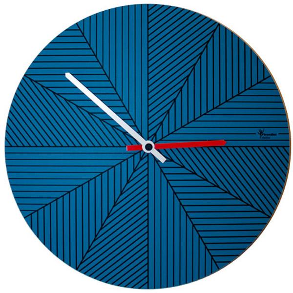 【正規輸入品】 イタリア ピロンディーニ ART084-BLUE Pirondini 木製掛け時計 Cronofilla 84 ブルー