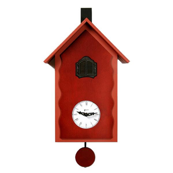 【正規輸入品】 イタリア ピロンディーニ 101A Pirondini 木製鳩時計 Cucu Lac レッド