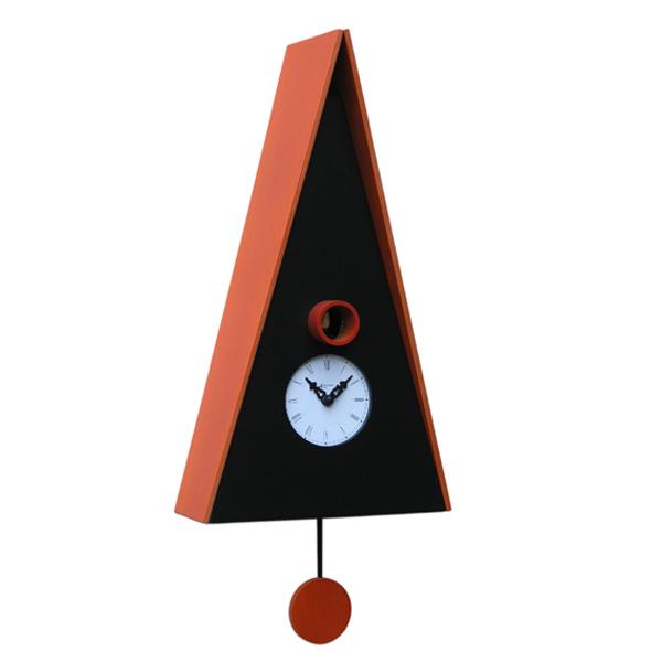 【正規輸入品】 イタリア ピロンディーニ 102-ORANGE Pirondini 木製鳩時計 Norimberga 102 オレンジ
