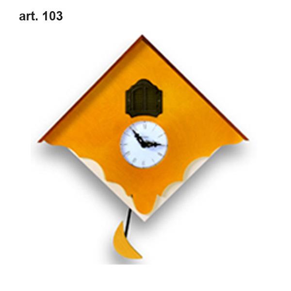 【正規輸入品】 イタリア ピロンディーニ 103-YELLOW Pirondini 木製鳩時計 Chalet 103 イエロー
