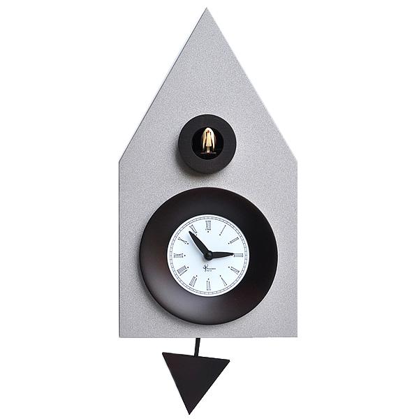 イタリアマエストロによるおしゃれなハンドメイドクロック 正規輸入品 お値打ち価格で ピロンディーニ Pirondini ART114 木製 クオーツ 送料区分 鳩時計 中 Argentat Alluminio 贈答 114 はと時計