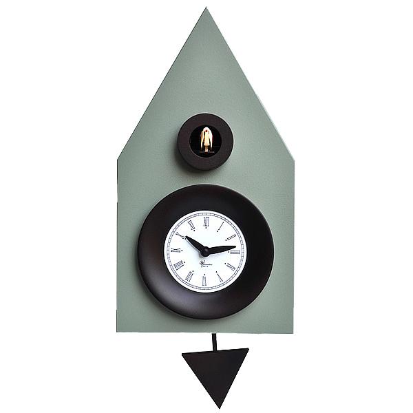 誕生日/お祝い イタリアマエストロによるおしゃれなハンドメイドクロック 正規輸入品 ピロンディーニ Pirondini ART114 木製 クオーツ ふるさと割 鳩時計 はと時計 グレー 114 Ral 7033 送料区分 中