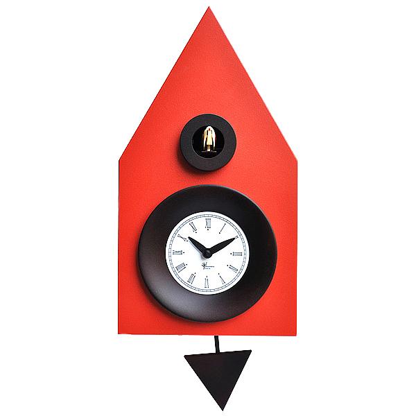 イタリアマエストロによるおしゃれなハンドメイドクロック 正規輸入品 ピロンディーニ Pirondini ART114 激安通販専門店 木製 クオーツ 鳩時計 114 最安値 Ral 2002 中 送料区分 はと時計 レッド