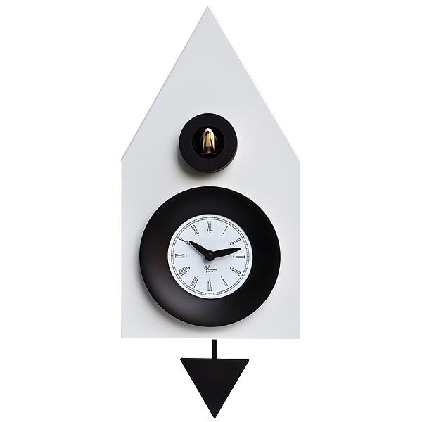 オーバーのアイテム取扱☆ イタリアマエストロによるおしゃれなハンドメイドクロック 正規輸入品 ピロンディーニ 期間限定お試し価格 Pirondini ART114 木製 クオーツ 鳩時計 9010 はと時計 Ral ホワイト 送料区分 114 中