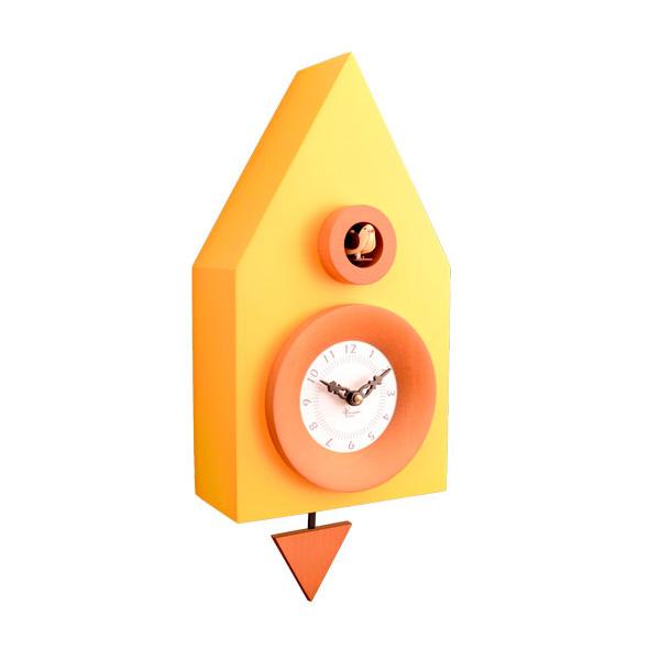【正規輸入品】 イタリア ピロンディーニ 114-YELLOW Pirondini 木製鳩時計 Dark 114 イエロー