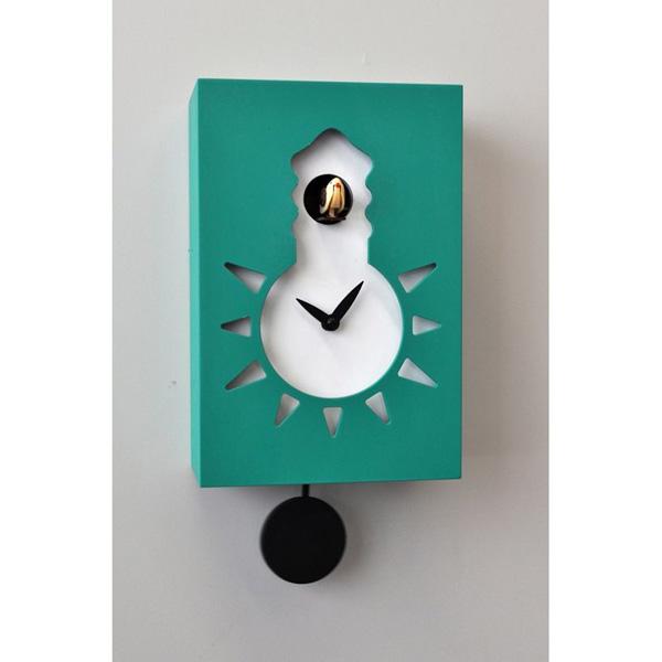 【正規輸入品】 イタリア ピロンディーニ 116-GREEN Pirondini 木製鳩時計 Night&Day 116 グリーン