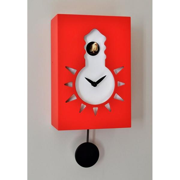 【正規輸入品】 イタリア ピロンディーニ 116-RED Pirondini 木製鳩時計 Night&Day 116 レッド
