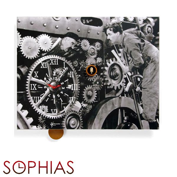 【正規輸入品】 イタリア ピロンディーニ 146 Pirondini 木製鳩時計 モダンタイムズ Charlot