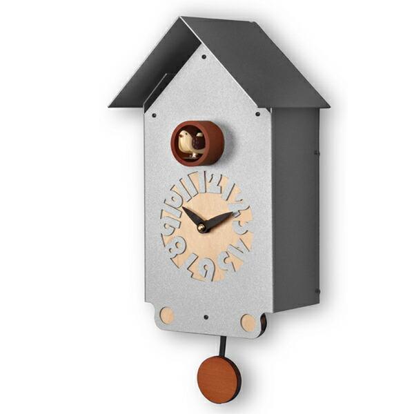 【正規輸入品】 イタリア ピロンディーニ 151A Pirondini メタル鳩時計 Casetto アルミ
