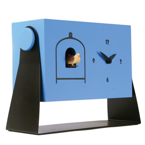 【正規輸入品】 イタリア ピロンディーニ 152-BLUE Pirondini 木製鳩時計 Dondolo 152 ブルー