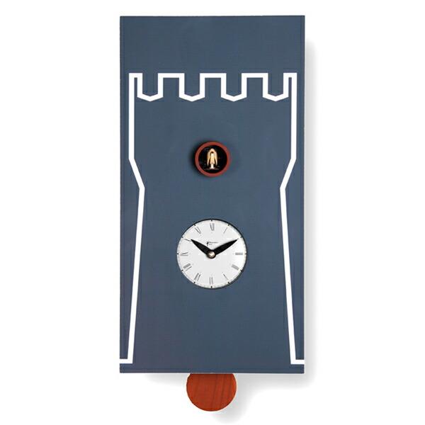 【正規輸入品】 イタリア ピロンディーニ 201A Pirondini 木製鳩時計 Torre ブラック