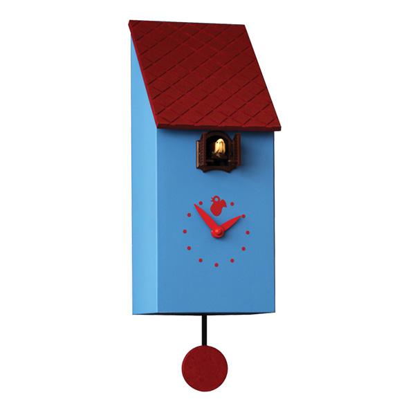 【正規輸入品】 イタリア ピロンディーニ 803 Pirondini 木製鳩時計 Portfino ブルー