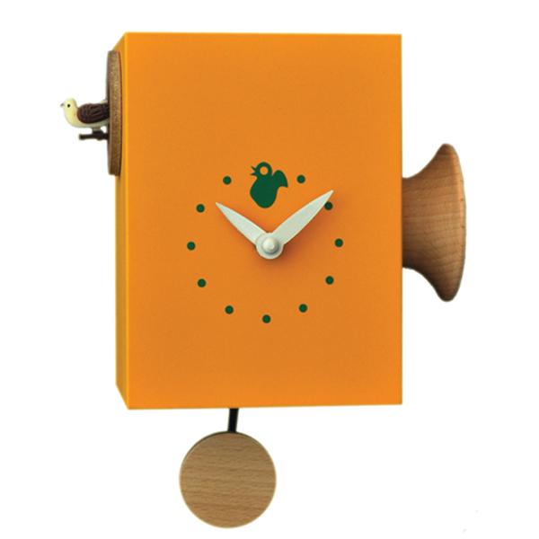 イタリアマエストロによるおしゃれなハンドメイドクロック 【正規輸入品】 イタリア ピロンディーニ 804-YELLOW Pirondini 木製鳩時計 Trombettimo 804 イエロー