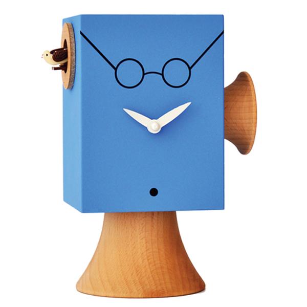 【正規輸入品】 イタリア ピロンディーニ 805d Pirondini 木製鳩時計 Faccine J.Lennon ブルー