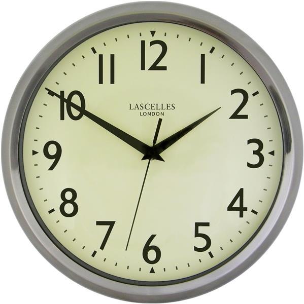 【正規輸入品】 イギリス ロジャーラッセル DECO/LASC/CHROME ROGER LASCELLES 掛け時計 レトロ&デコクロック