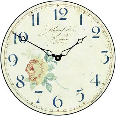 【正規輸入品】 イギリス ロジャーラッセル PUB/ANGEL ROGER LASCELLES 掛け時計 フローラルクロック