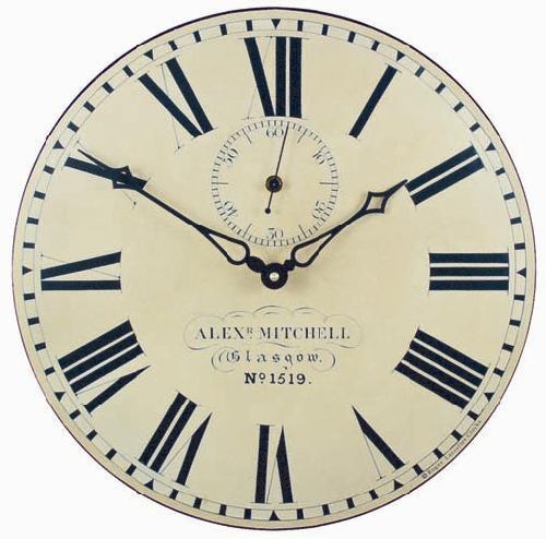 【正規輸入品】 イギリス ロジャーラッセル PUB/GLAS ROGER LASCELLES 掛け時計 ステーションクロック