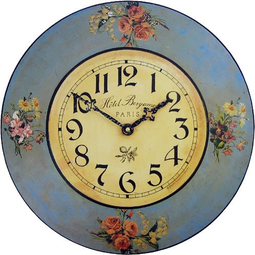 【正規輸入品】 イギリス ロジャーラッセル PUB/HOTEL ROGER LASCELLES 掛け時計 フローラルクロック