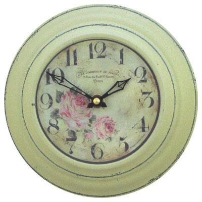 【正規輸入品】 イギリス ロジャーラッセル RO/FLORIST/CRM ROGER LASCELLES 掛け時計 フローラルクロック CRM