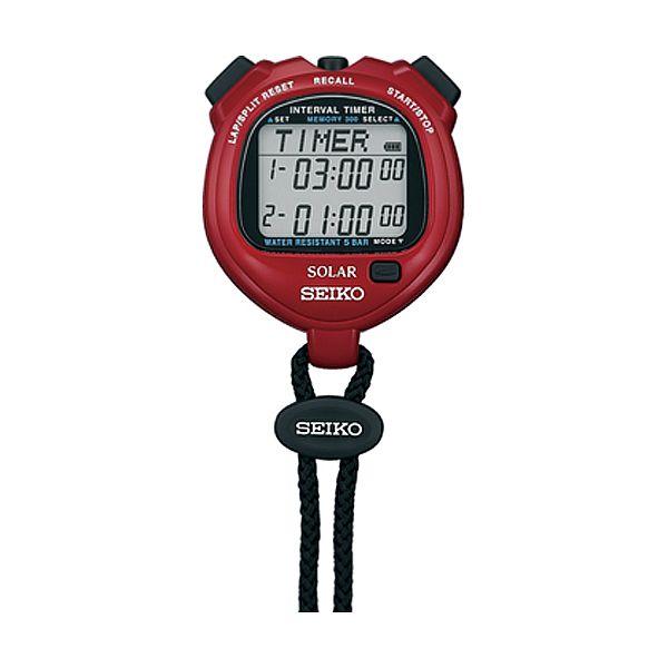 10%OFF 35%OFF SEIKO 国内モデル 腕時計 正規品 セイコー インターバルタイマー ソーラー SVAJ103 レッド ストップウオッチ 市場 STOPWATCH